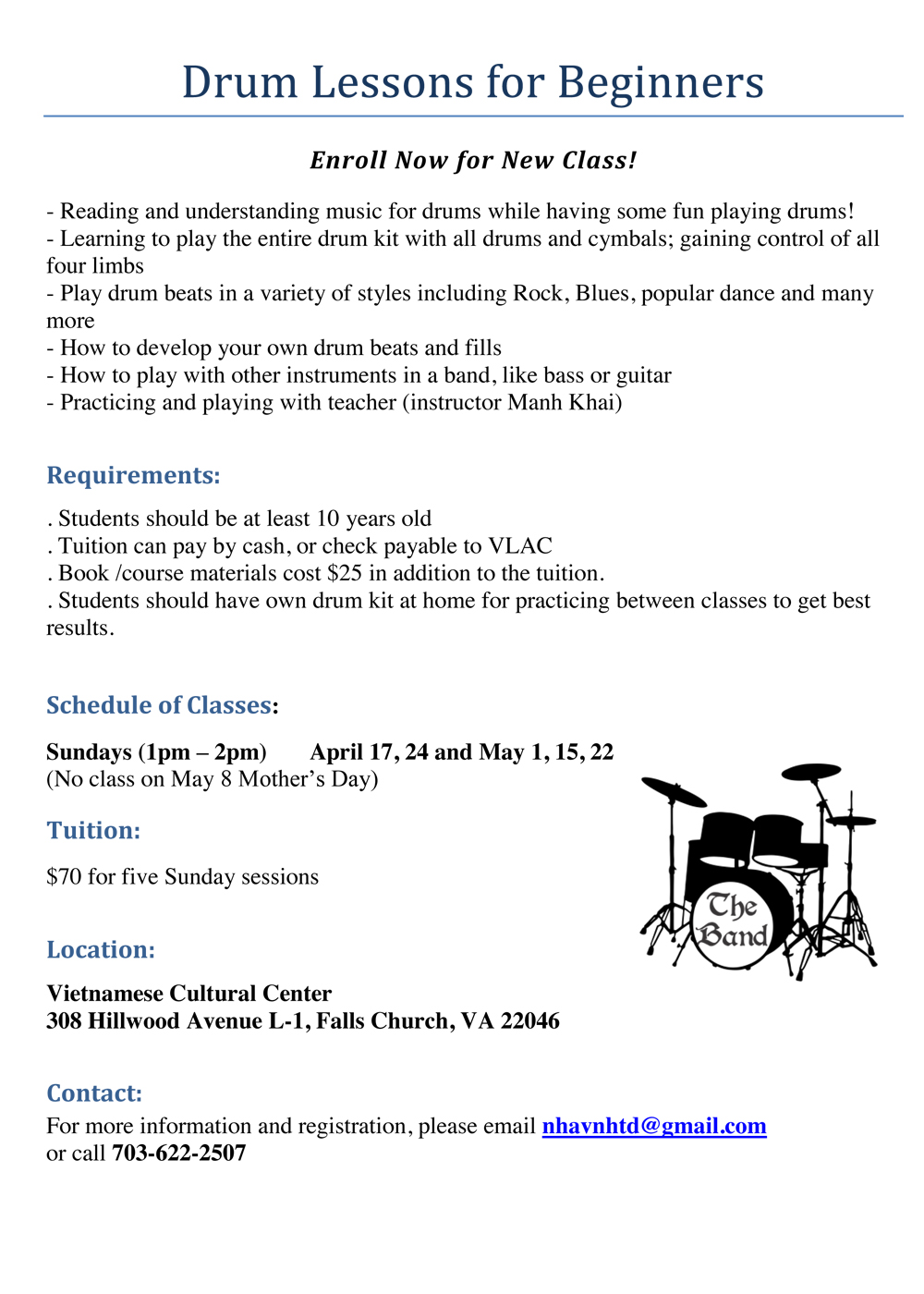 Drums April