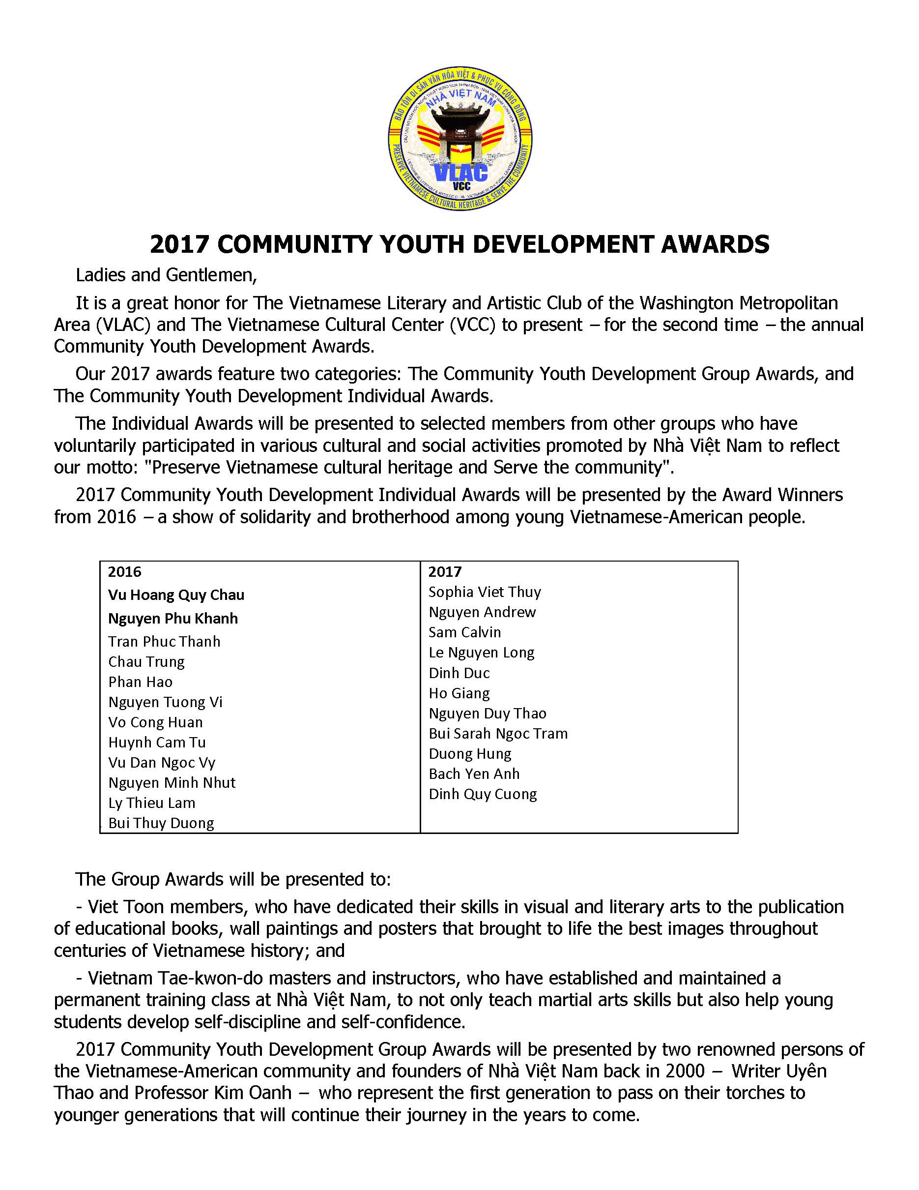 2017 Community Youth Development Awards(1)